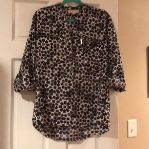 Michael Kors Black White Blouse M
